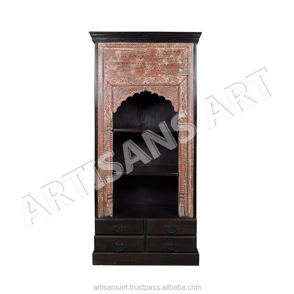 Indian Antique Hand Carved Bookshelf, Antique book rack Suppliers and Manufacturers