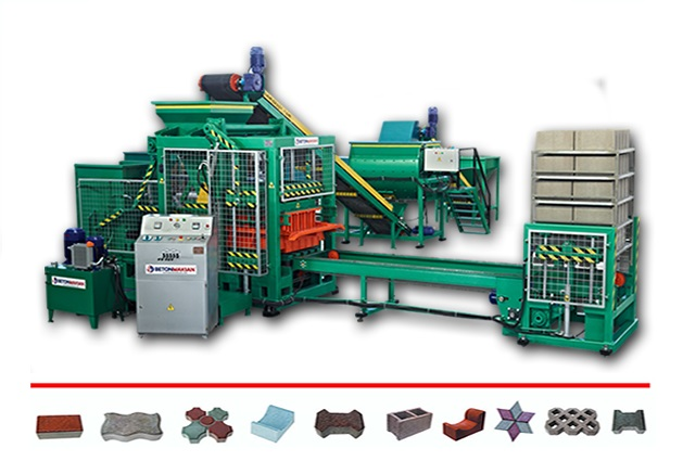 Semi Automatic Concrete Block Machine