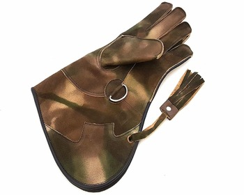 Mens High Quality Double Layer Soft Leather Falconry Gloves/Bird Handling Gloves/Pet Gloves.