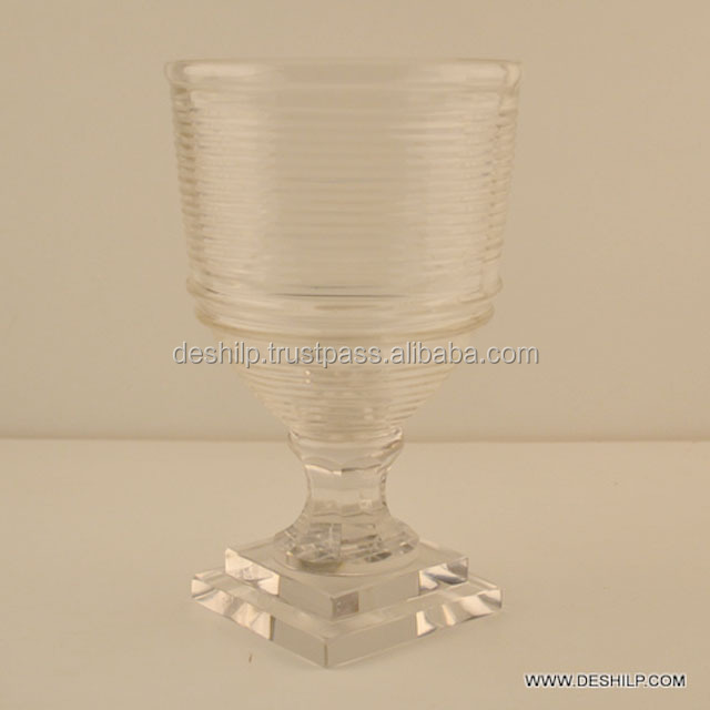 Round Shaped Glass Candle Holder