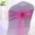 Shiny material organza wedding ruffle chair sashes for sale
