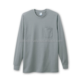 Cotton inner wear / Long sleeve t shirt ( Spring / Summer ). Made by Japan