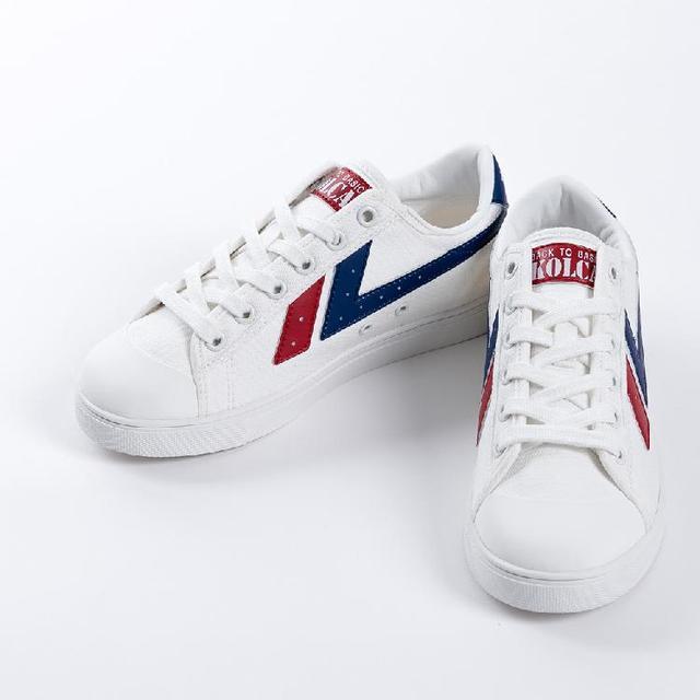 Logo printed dissimilarity ladies sneaker man shoe casual shoe KOLCA1992 Barcelona White Red Blue