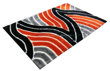 latest design multicolor and style polyester rug for home decor