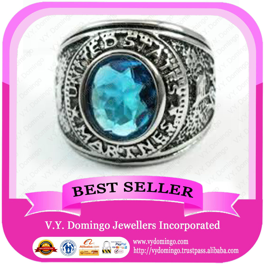 Sterling Silver 925 Wholesale Bullring Customized Military Ring