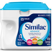 Similac Go & Grow Milk Based Formula, Powder, 22-Ounces