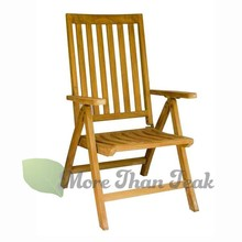 TEAK WOOD FOLDING RECL. ARM CHAIR garden/outdoor furniture hot sale patio sets