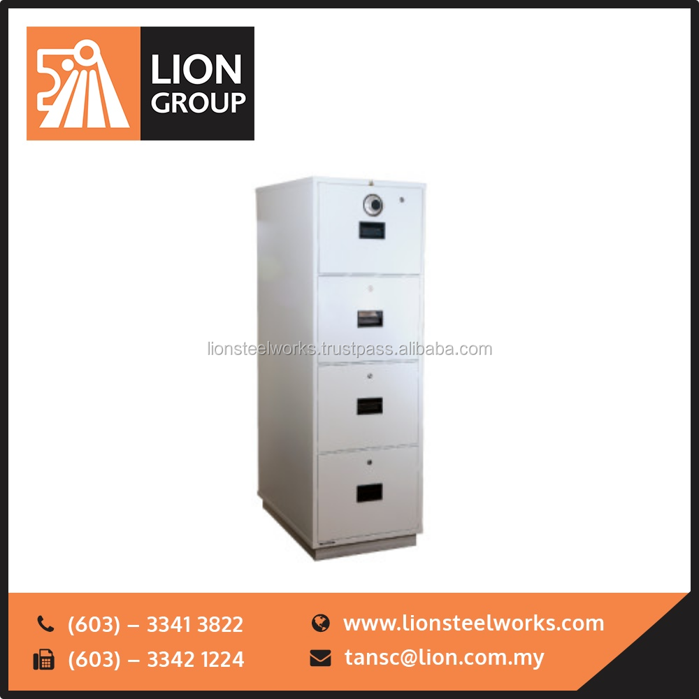 Best Quality Lion Fire Resistant Cabinet, 4 Drawer Fireproof file office furniture malaysia