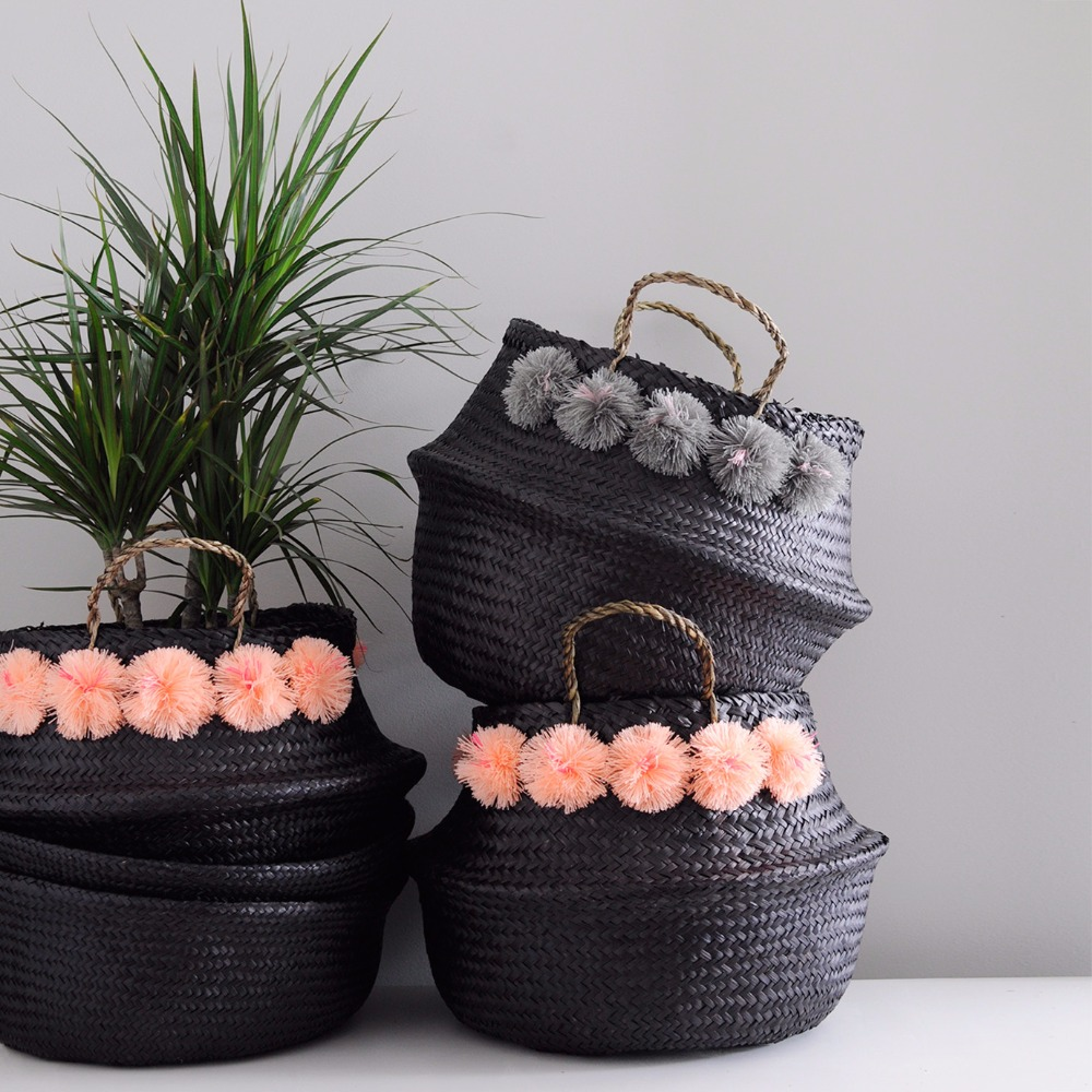 Black seagrass belly basket