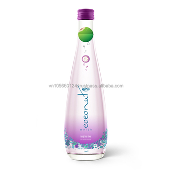 Wholesaler supplier 300ml glass bottle coconut water with mangosteen flavor