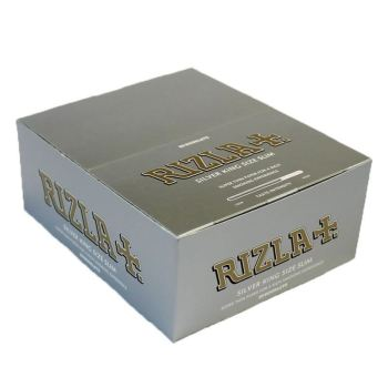 ORIGINAL RIZLA SILVER KING SIZE SLIM ULTRA CIGARETTE SMOKING ROLLING PAPERS THIN