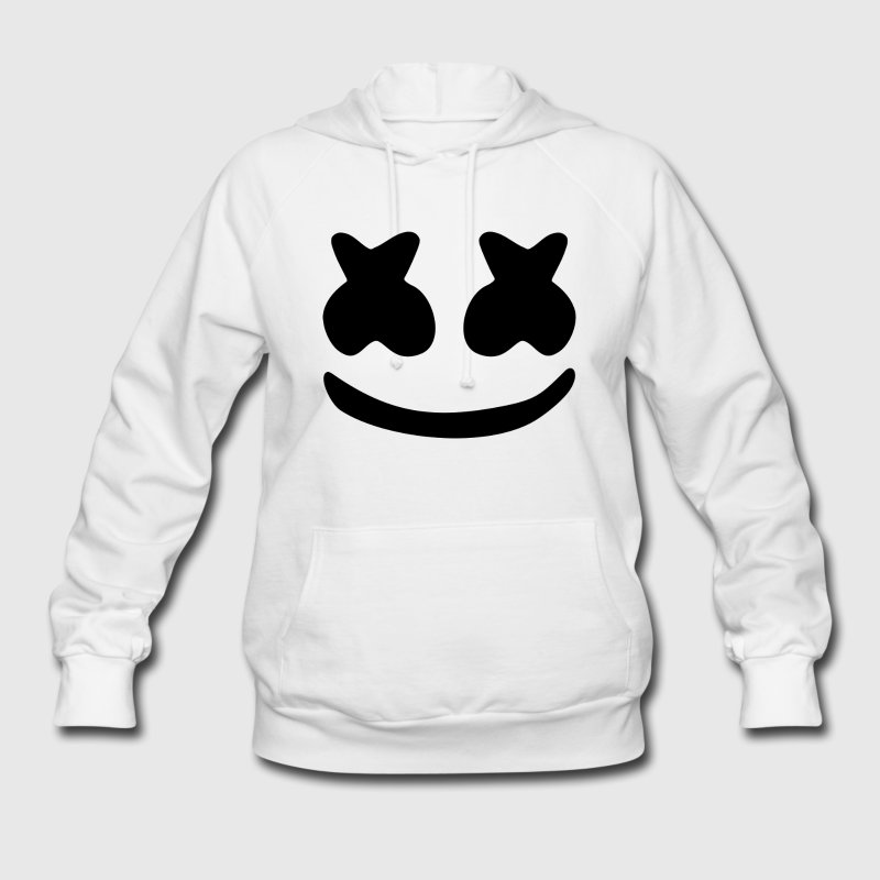 smile face hoodies white color custom design