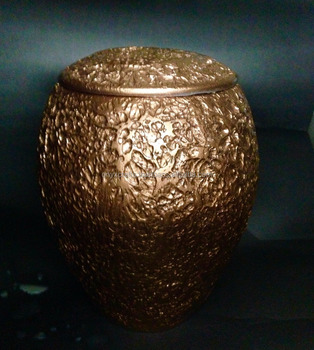 Copper Color Pattern Marble Funeral Cremation Urns in Cheap Price