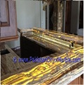 CUSTOM MADE FINE QUALITY ONYX RECEPTION COUNTERS