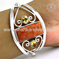 Beautiful silver bangle multi stone 925 sterling silver jewellery wholesale supplier