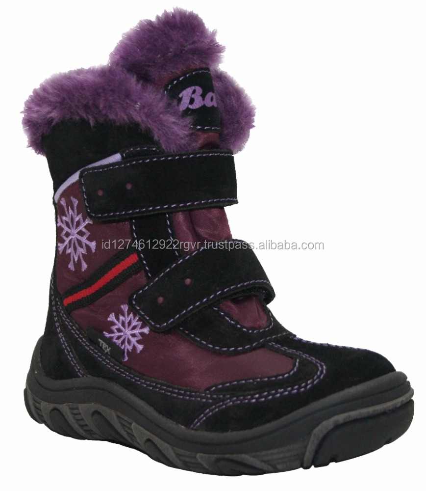 New 2017 Kids Boots Black Purple Coloured