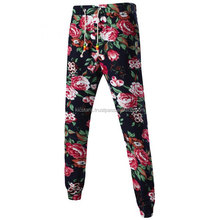 Mens Floral Sublimation Joggers Jogging Pants Running Sweatpants Casual Trousers