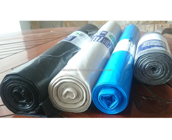 Competitive price HDPE/ LDPE colorful Garbage/ Bin liner plastic bag from Vietnam