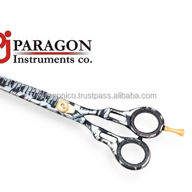 Black & White Professional Japanese Steel Hair Cutting Thinning Scissors With New Design Color Coating FANCY THINNING SCISSOR