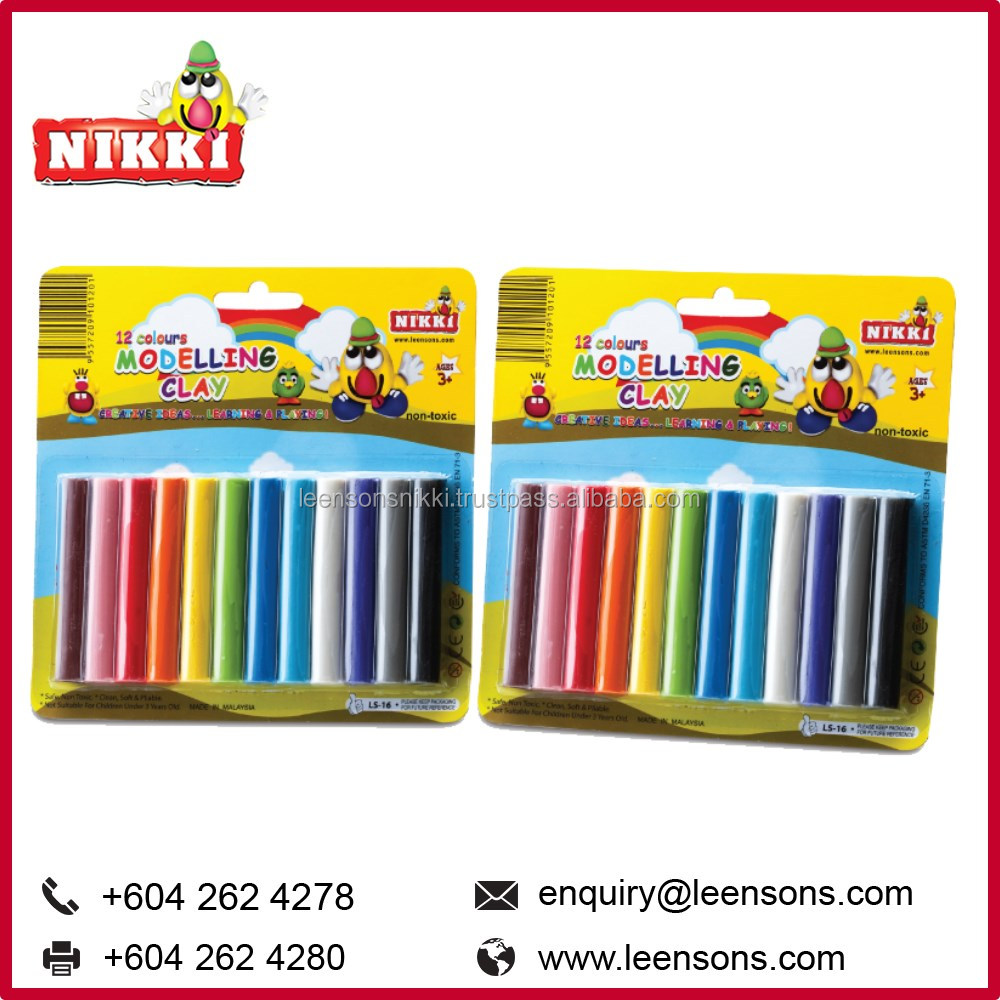 12 Colors Malaysia Modeling Clay Stick Children Toys Wholesale (LS 16)