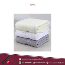 2018 Hot Sell 100% Cotton Material Plain Bath Towel Manufacturer India