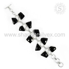 Attractive black onyx gemstone bracelet silver jewelry wholesaler 925 sterling silver bracelets jewellery jaipur