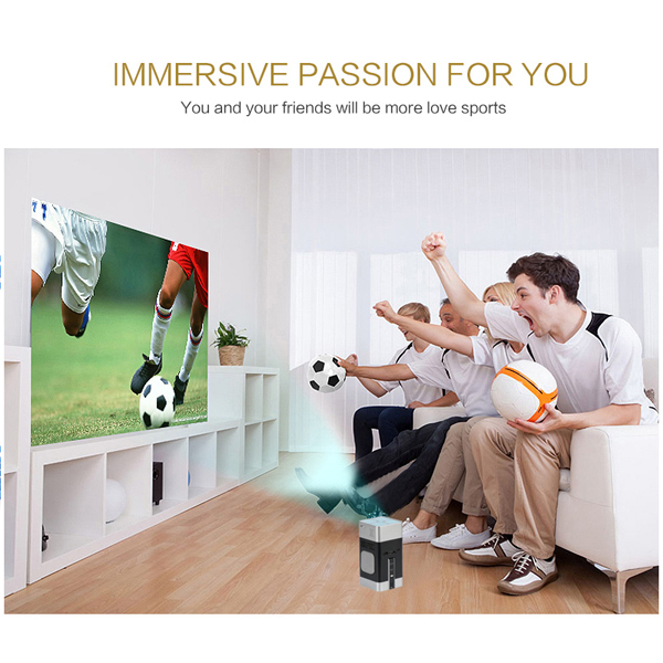 Android Home theater micro LED projector connect smartphone portable DLP projector