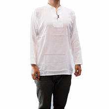 NAPAT Fashion Men Luxury Stylish Slim Fit White Beach Cool Cotton Island Casual Shirts