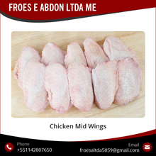 Top Quality Tasty Frozen Chicken Mid Joint Wings at Wholesale price