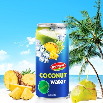 Natural Young Coconut Water Juice with pineapple flavor