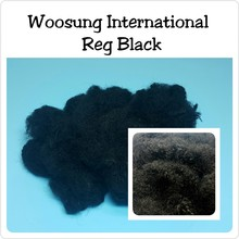 Super A High quality 100% Polyester Staple Fiber Virgin Fiber_Recycled Solid Black Fiber