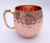 DEEP HAMMERED FOOD SAFE LACQUER LINED 100% COPPER MOSCOW MULE MUGS, MUG OF COPPER
