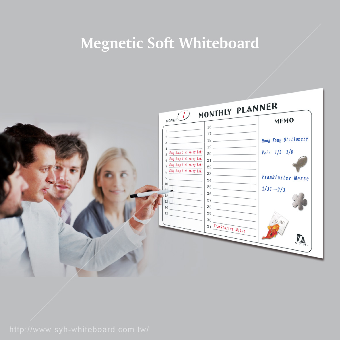 Peel and Stick removable magnetic whiteboard sheet dry erase stickers