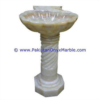 PAKISTAN FACTORY MADE BEST QUALITY ONYX PEDESTALS SINKS BASINS WHITE ONYX