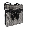Thailand's High Quality Premium Black & White Quilted Cotton Fashion Bag