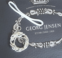 Christmas Ornament WREATH -Pure Silver Plated - by Georg Jensen