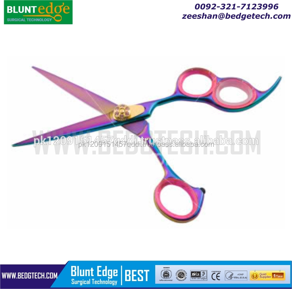 Professional 3 Ring Hair cutting Shears Japanese Steel 440C Titanium Coated/Beauty Car
