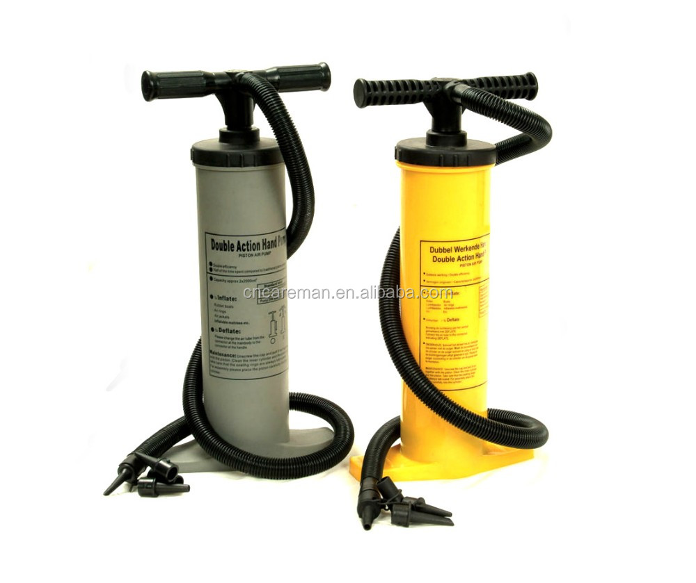 High Output Dual Action Hand Floor Pump, Air Mattress/Air bed/Pool/Boat/Canoe/Kayak/Raft/Inflatable Push Pull Quick Inflator