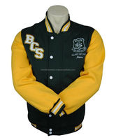 Custom Mens Plain Sports Varsity Jacket Cotton Fleece Material Jacket