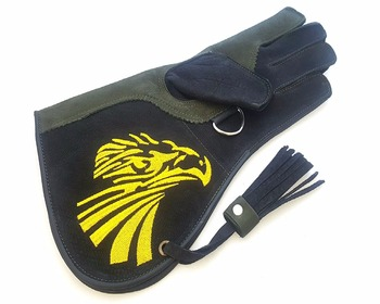 Double Layer Genuine Nubuck Leather Falconry Gloves.