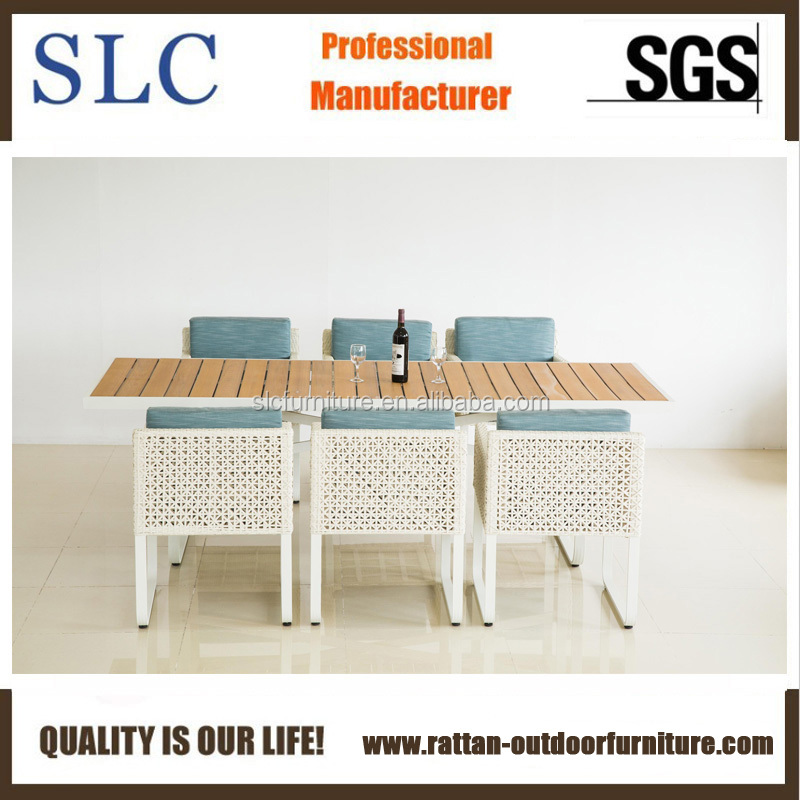 New Design Outdoor Patio Furniture with Polywood Table Top (SC-C0011)