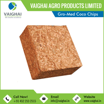 High Water Holding Capacity Husk Chips Coco Peat Block