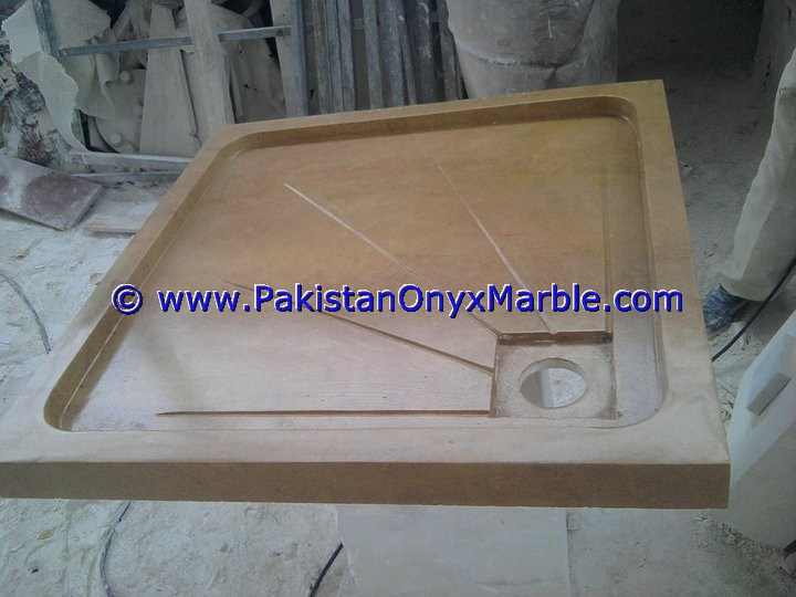 CREATIVE DESIGN MARBLE SHOWER TRAY HANDCARVED NATURAL STONE BATHROOM DECOR BEIGE MARBLE