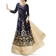Latest collection of semi stitched embroidery anarkali dress
