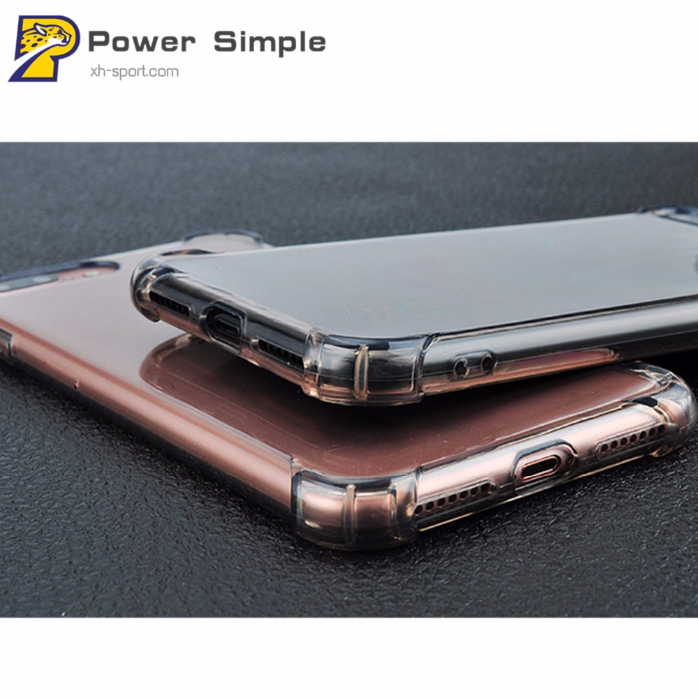 Luxury Transparent Clear Soft TPU Anti-knock Back Cover For iPhone 5S 6 6S 7 Plus 8 Plus X Hot Mobile Phone Cases Protector