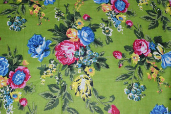 Indian handmade printed fabric running fabric 100% cotton printed fabric flower & floral print fabric