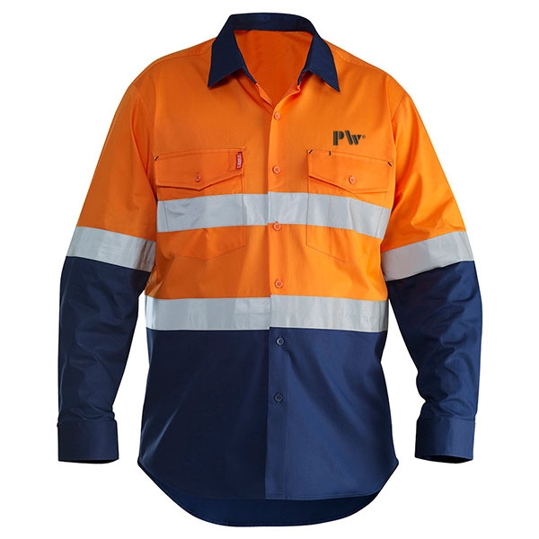 Custom clothing hi-vis reflective tape safety work shirt for adults