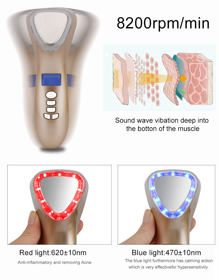 hot products 2019 hot and cold beauty device with light and  Sonic Vibration