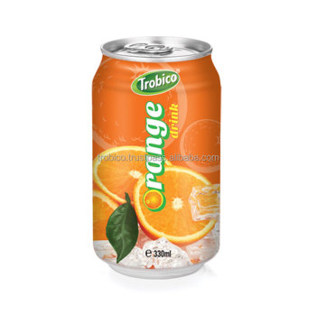330ml Canned Orange Drink-OEM Fruit Juice-From Trobico Brand