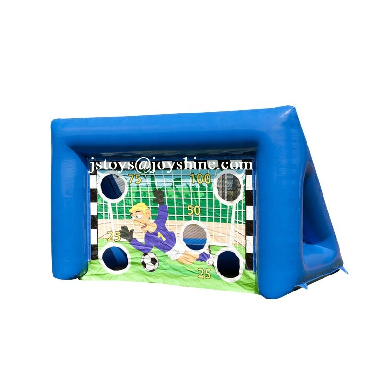 Just Fun Inflatables Portable Inflatable Sport Shooting Game Soccer <strong>Football</strong> Target Goal Post With <strong>Football</strong>